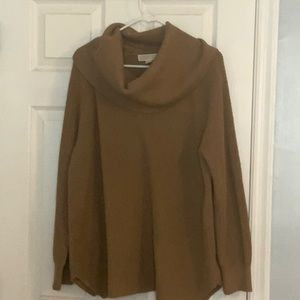 Brown Cowl Neck Michael Kors Sweater